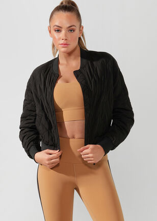 To The Street Cropped Bomber