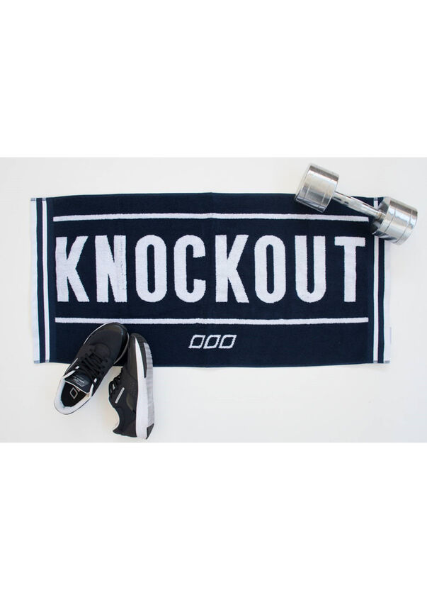 Knockout Sweat Towel, Ink/White, hi-res