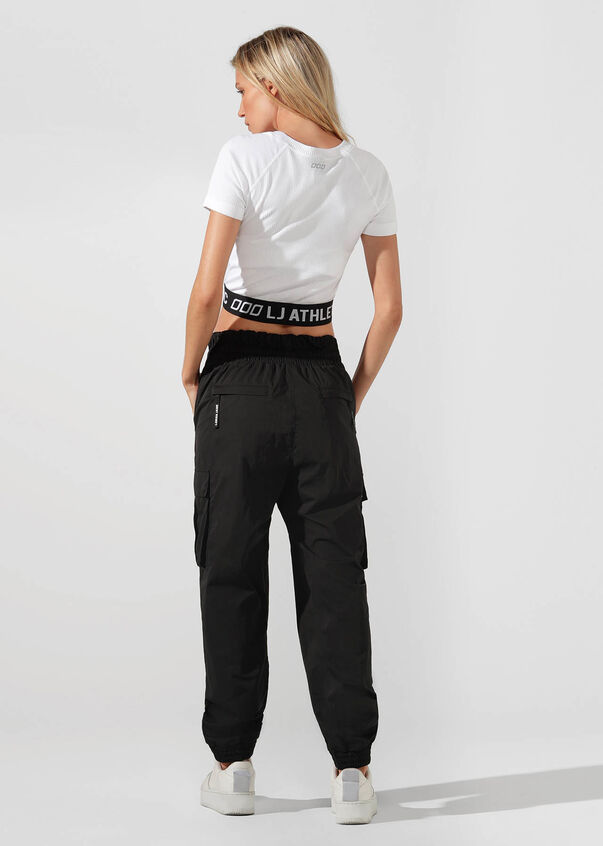 Athletic Cropped Seamless Tee, White, hi-res
