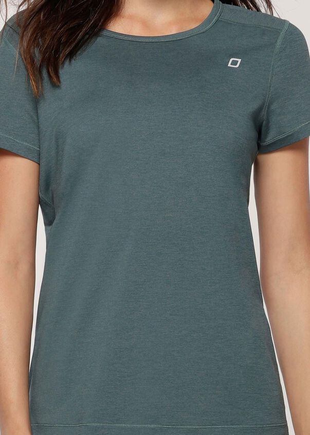 Move Freely Active Tee, Agave Teal Marl, hi-res