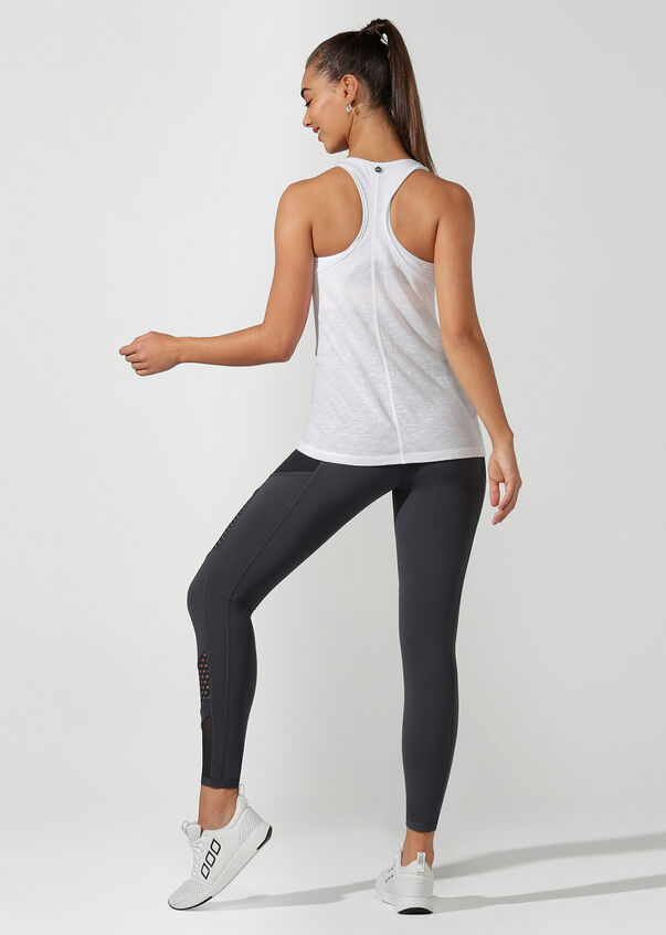 Effortless Slouchy Gym Tank, White, hi-res