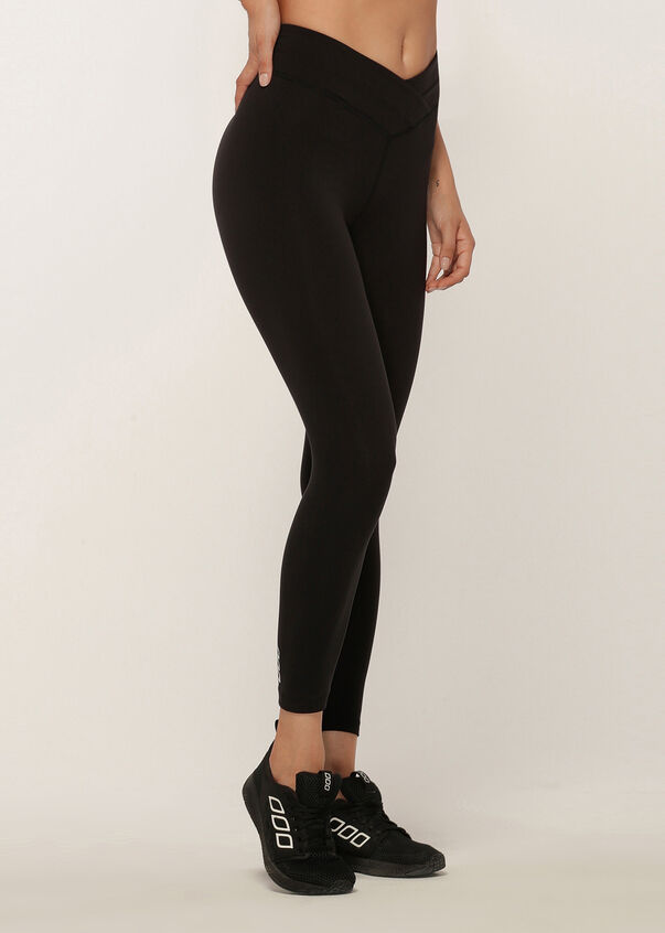 Wrap Waistband Ankle Biter Tight, Black, hi-res