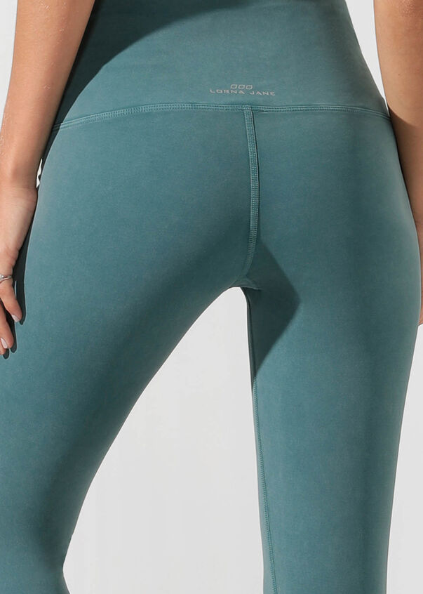 Khloe Core Ankle Biter Tight, Washed Amazon Green, hi-res