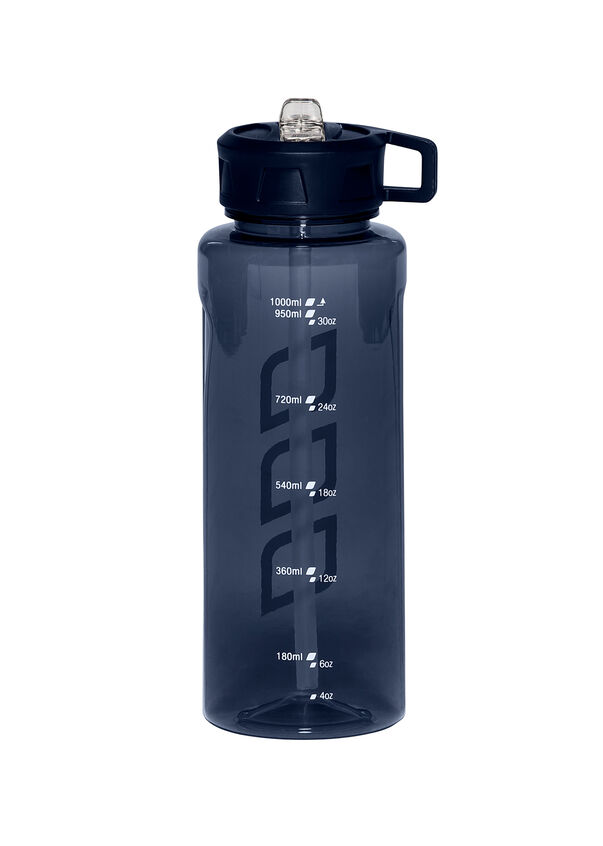LJ 1 Litre Water Bottle, Black, hi-res