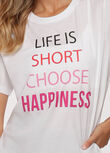 Choose Happiness Tee, White, hi-res