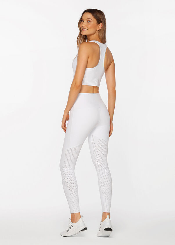 Serenity Booty Support Full Length Tight, White, hi-res