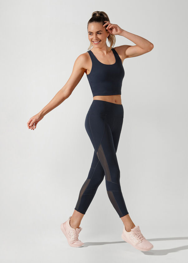 Britney Cropped Active Tank, Midnight Indigo, hi-res