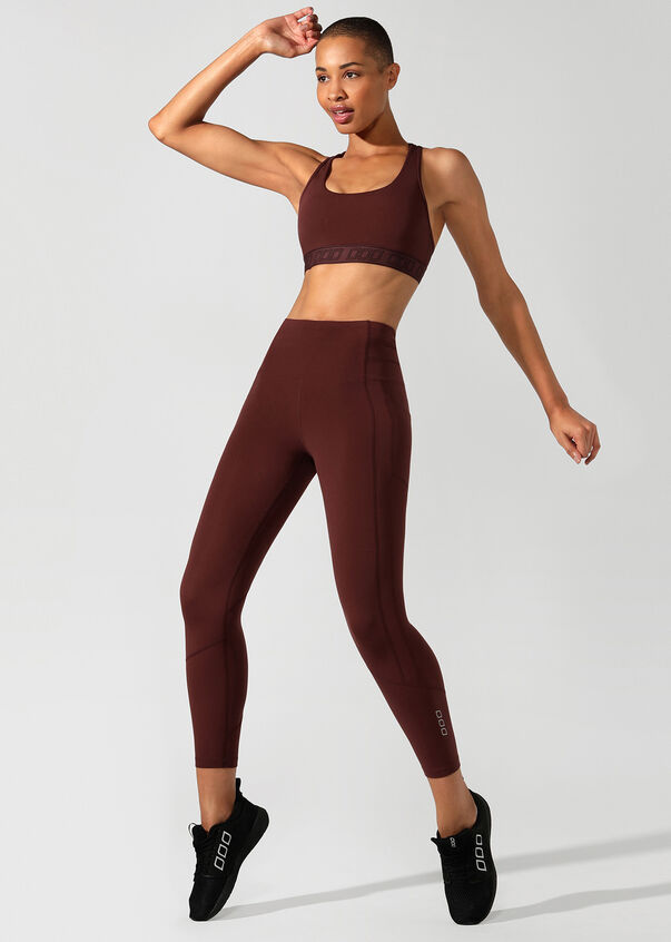 Easy Support Sports Bra, Cool Brown, hi-res