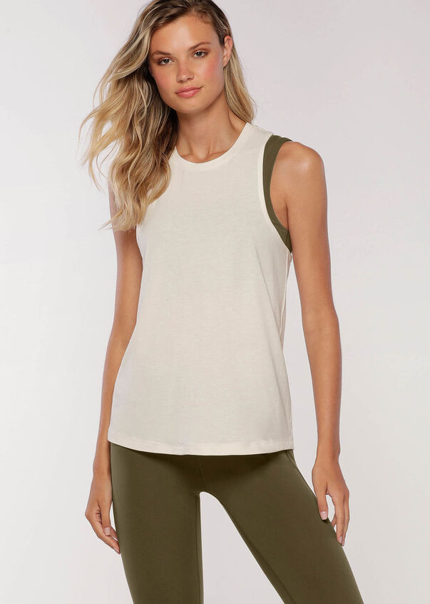Sports Club Tank, Cream, hi-res