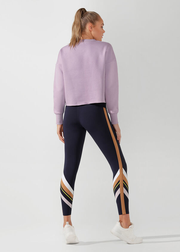 Iconic Cropped Sweat, Pale Orchid Lilac, hi-res