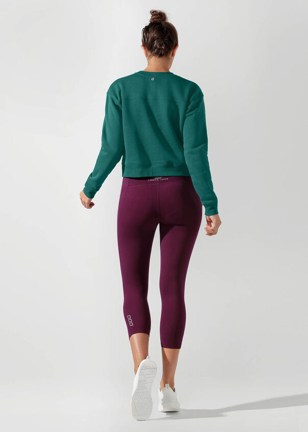 Iconic Cropped Sweat, Amazon Green, hi-res