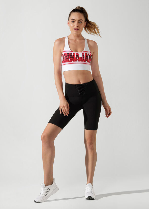 Pump Up Sports Bra, White, hi-res