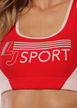 Retro LJ Sports Bra, Pale Peony / Paprika, hi-res