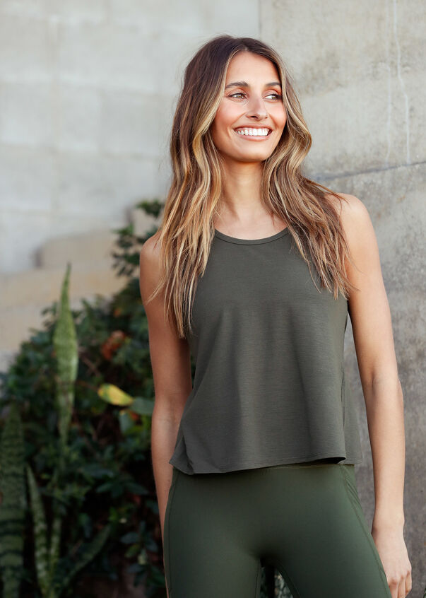 Free Flow Open Back Active Tank, Luxury Green, hi-res